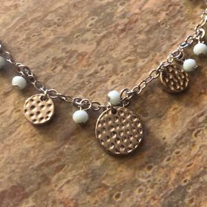 NEW Hammered Metal & Bead Necklace